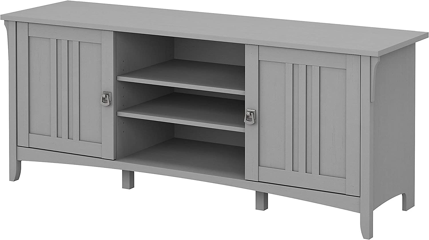Bush Furniture Salinas 60W TV Stand for 70 Inch TV in Cape Cod Gray