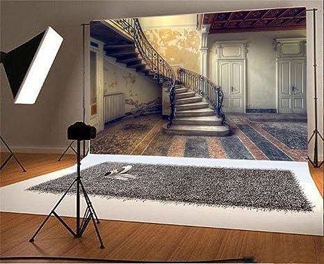 YongFoto 1,5x1m Vinilo Fondo de Fotografia Habitación Interior Escalera abandonada Telón de Fondo Fiesta Niños Boby Retrato Personal Estudio Fotográfico Accesorios: Amazon.es: Electrónica