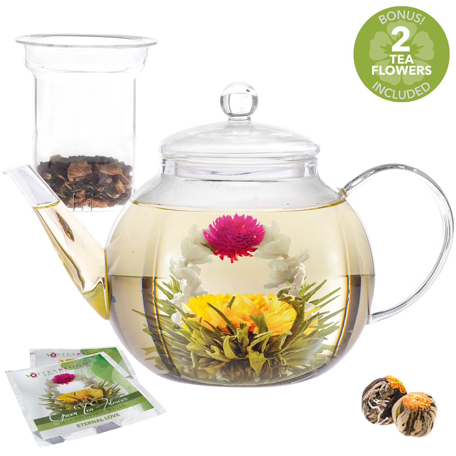 Amazon Teabloom Natural Rose Flowering Tea 12 Hand Tied