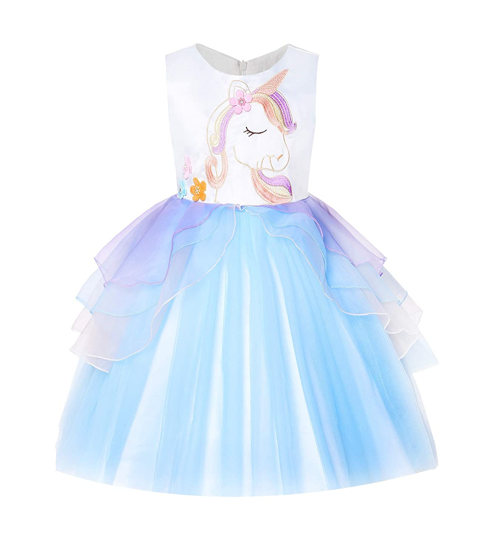 Umupi Unicorno Festa Compleanno Bambina Costume Tulle Vestito