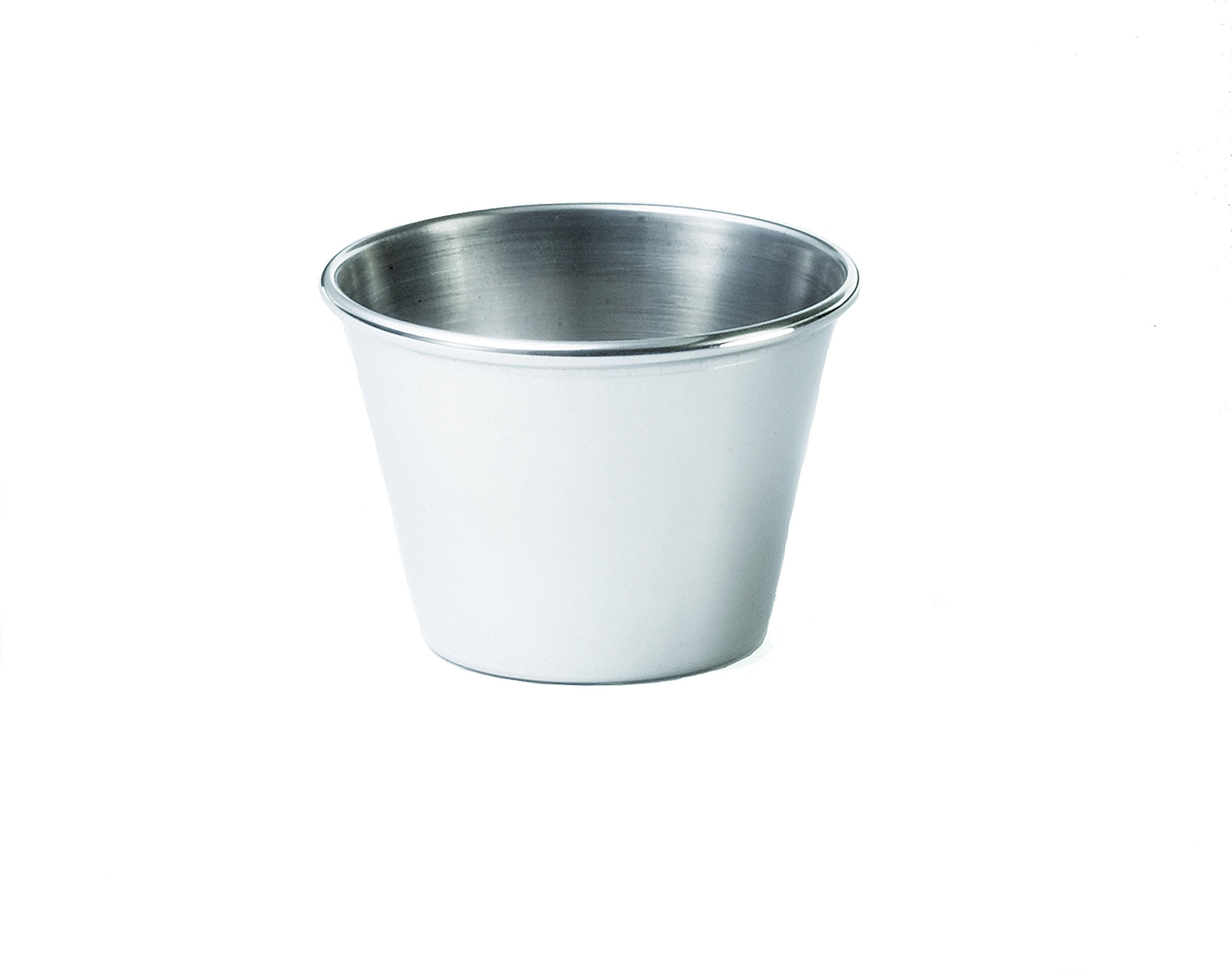 TableCraft Products 5067 2.5 oz Sauce Cup, Stainless Steel (Pack of 12)