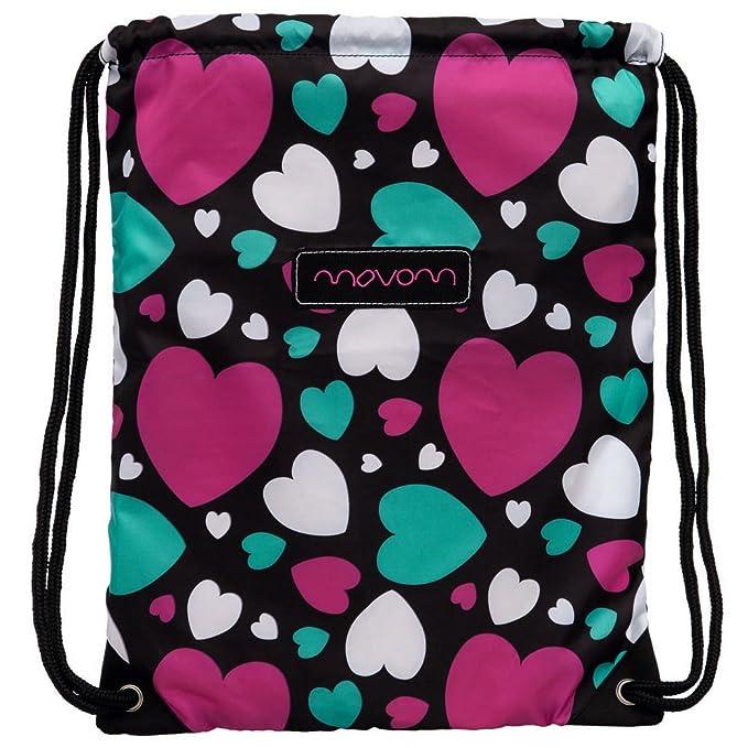 Movom Mochila Saco, Diseño Hearts, Color Rosa, 1.54 litros: Amazon.es: Equipaje