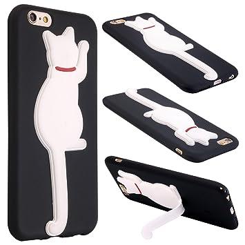 Funda Gato iPhone 6 Plus, ColdCome Suave TPU Silicona ...