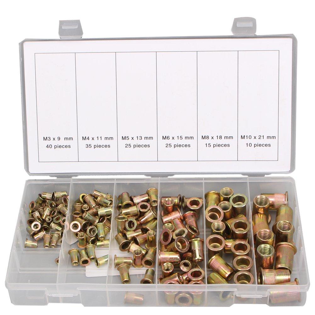 150 TLG threaded crimp-rivets Rivet Nuts Blind rivet nuts range set M3 M4 M5 M6 M8 M10 CCLIFE