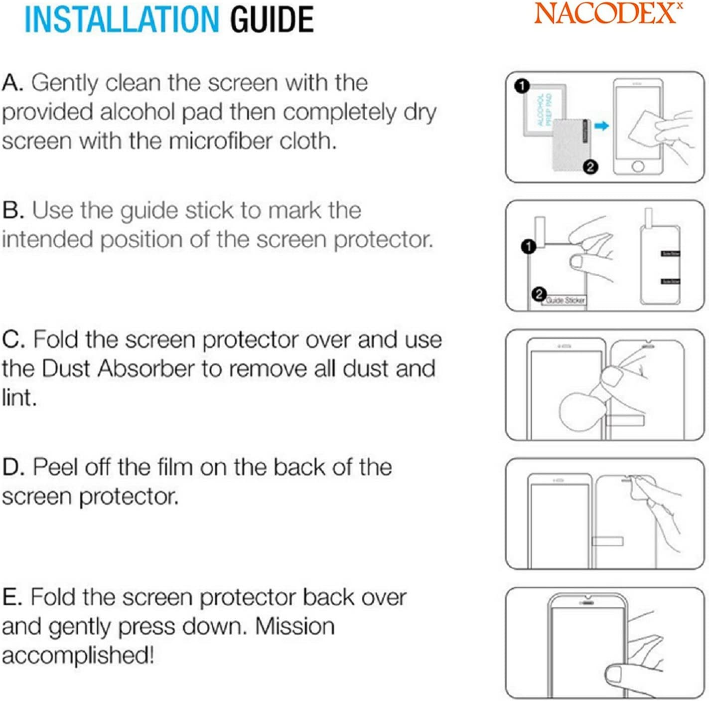 Nacodex for Xiaomi Mi 9T // MI 9T Pro Tempered Glass Screen Protector Anti Scratch 5 Pack Bubble Free