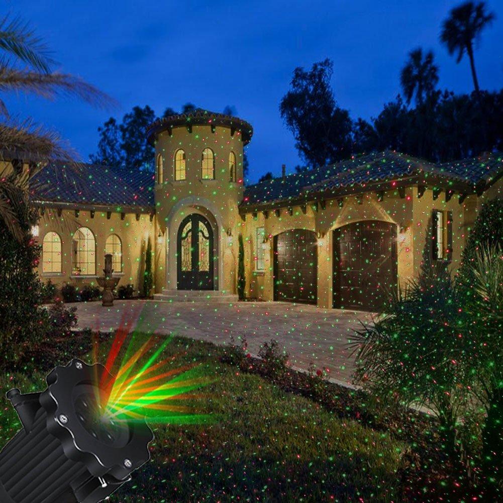 Proyector Navidad de LED Decoración de Navidad de Halloween, lámpara de Airlab Luz de decoración de proyector con control remoto, dinámico y estático, luces para Navidad, Halloween, fiestas, fiesta, i [Clase de eficiencia energética A+] L009-rdlv