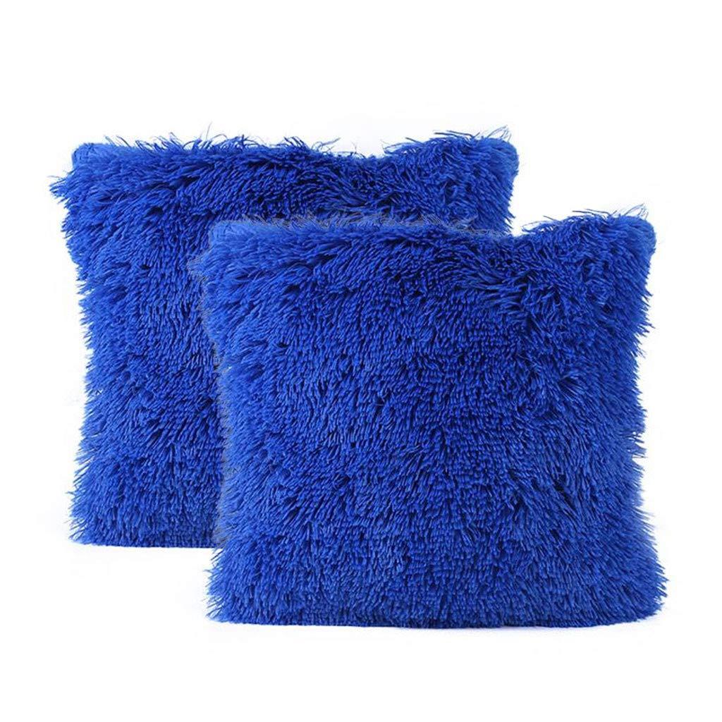 SO-buts - 2 Fundas de cojín para sofá, diseño de león, Azul ...