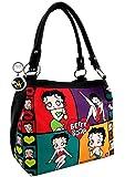 Betty Boop Colorful Collage Handbag, Plus Key Chain