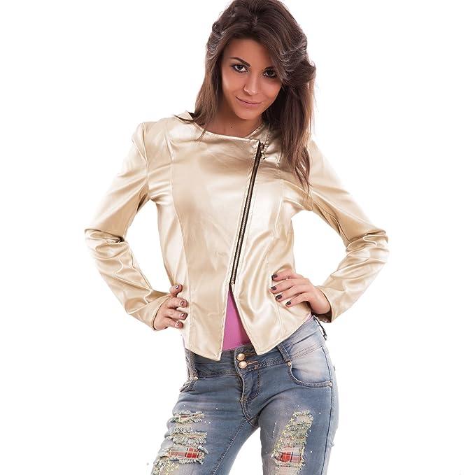 cheaper 357b6 98531 Toocool - Giacca Donna Ecopelle Giubbino Giacchetto Slim ...