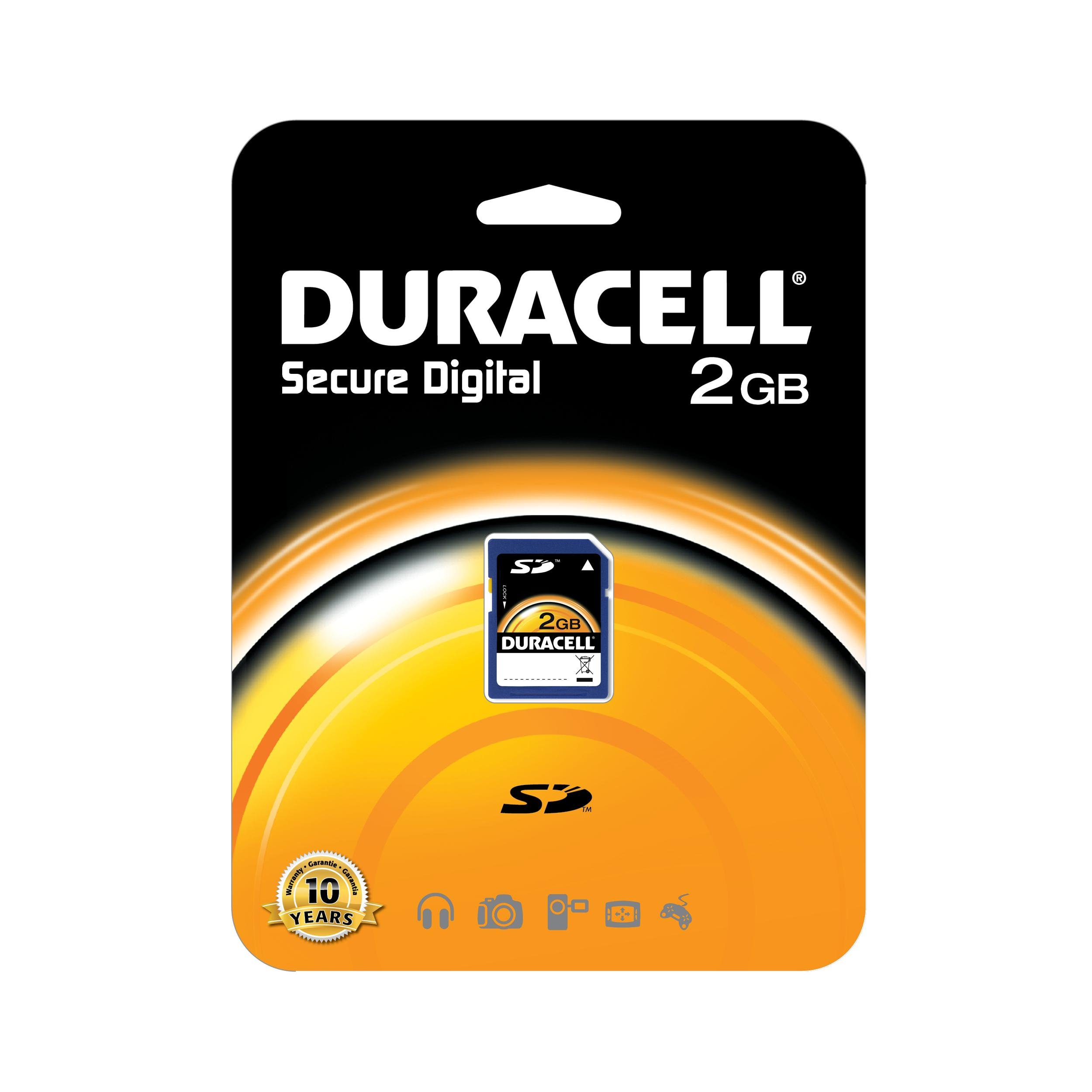 Duracell 2 GB Class 2 Secure Digital Card DU-SD-2048-R