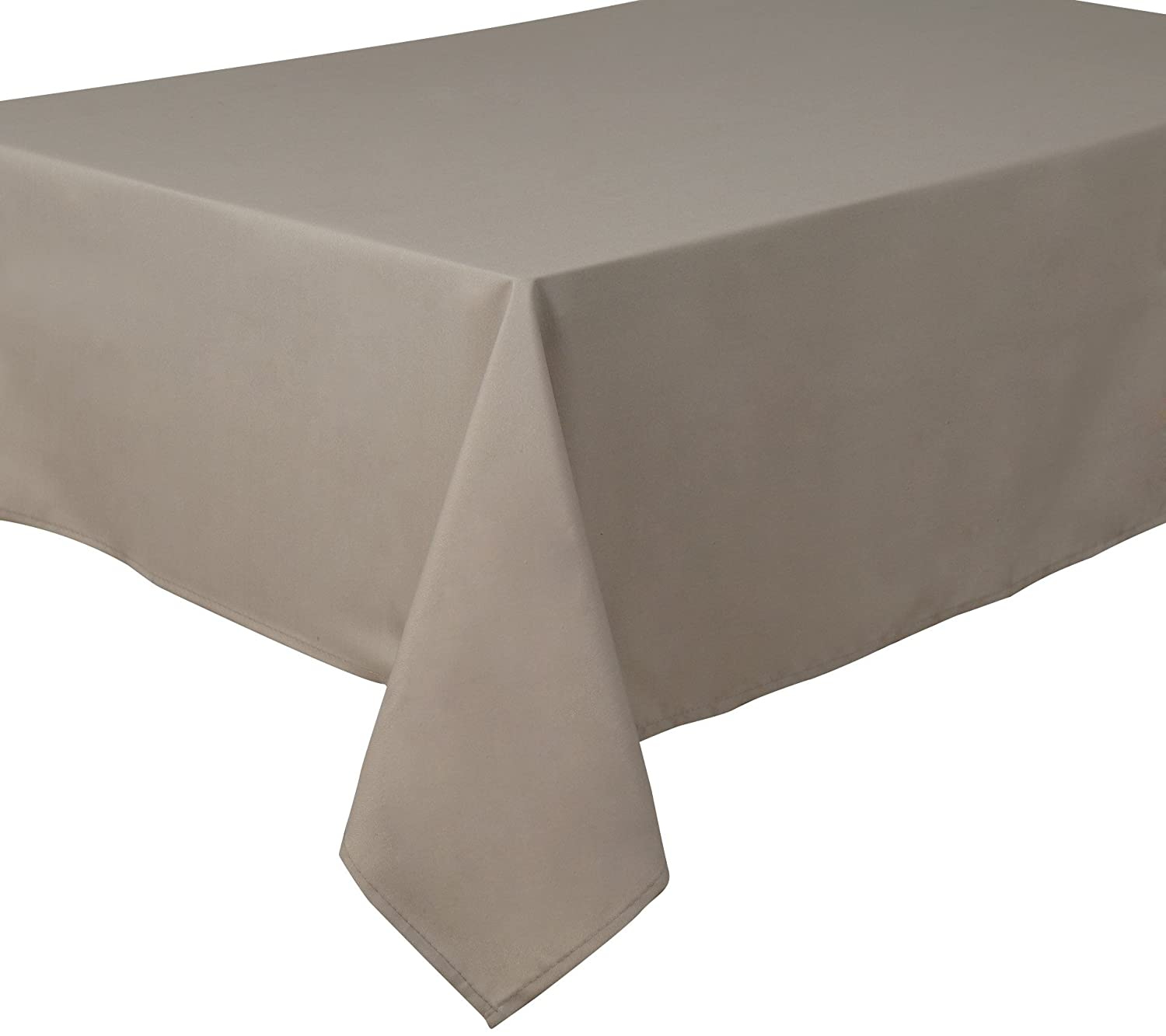 Home Direct Mantel 100% poliéster, Rectangular 140 x 240cm Taupe