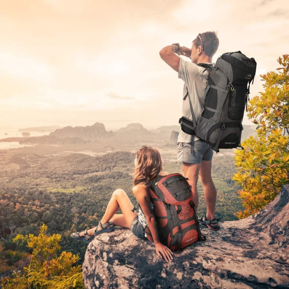 Montagne Voyage NACATIN Sac /à Dos de Randonn/ée Alpinisme Sport en ext/érieur Esclade Sac de Montagne 70L,Sac de Trekking /Étanche avec Housse de Pluie pour Femme Homme Randonn/ée