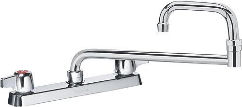Krowne Commercial Series 8 Center Deck Mount Faucet, 24 Jointed Spout, 13-824L
