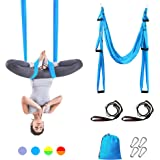 Sotech Yoga Swing, Anti-Gravity Yoga Sling Hammock for Aerial Yoga Inversion Tool with 2 Daisy Chain