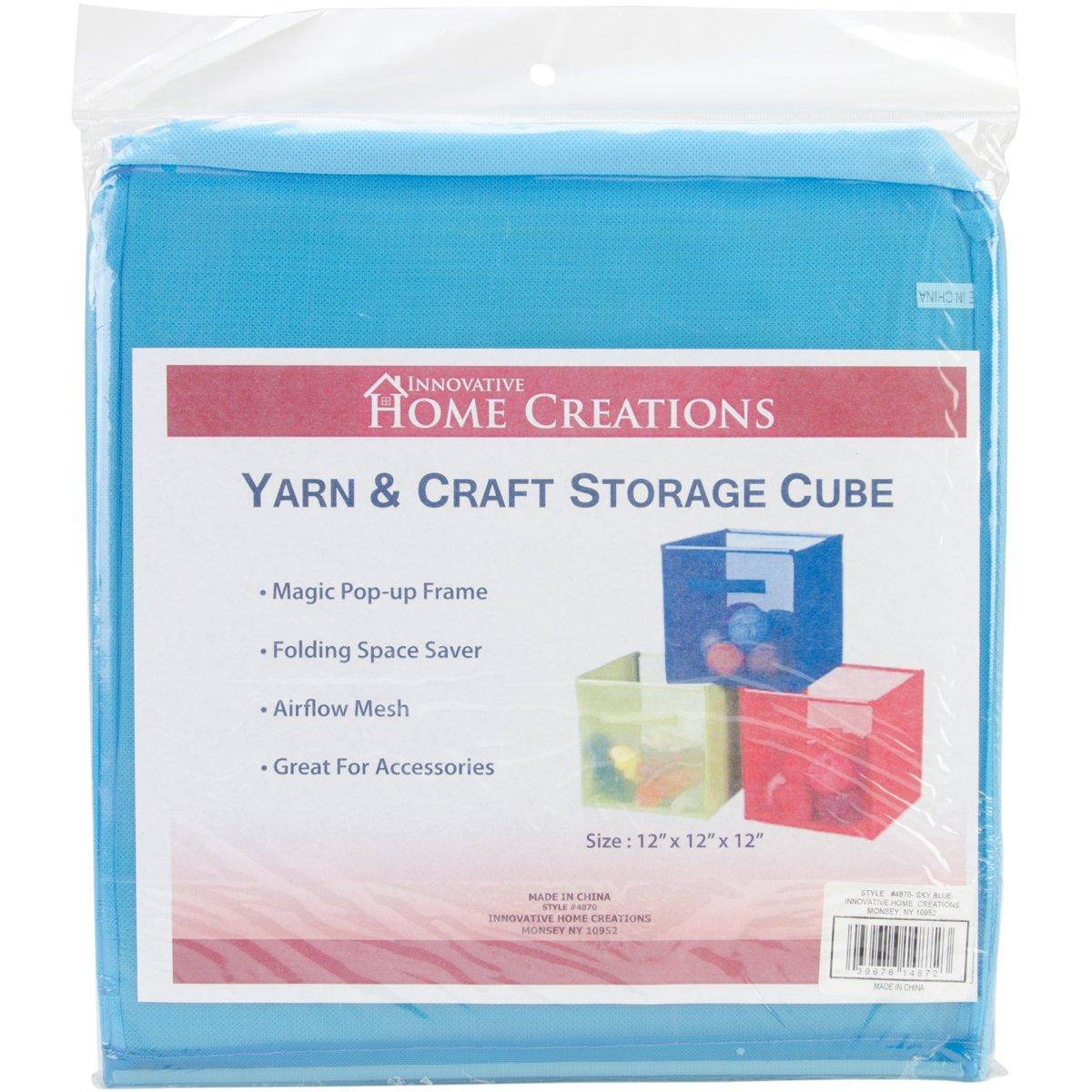 General Yarn & Craft Storage Cube 12''X12''X12''-Sky Blue