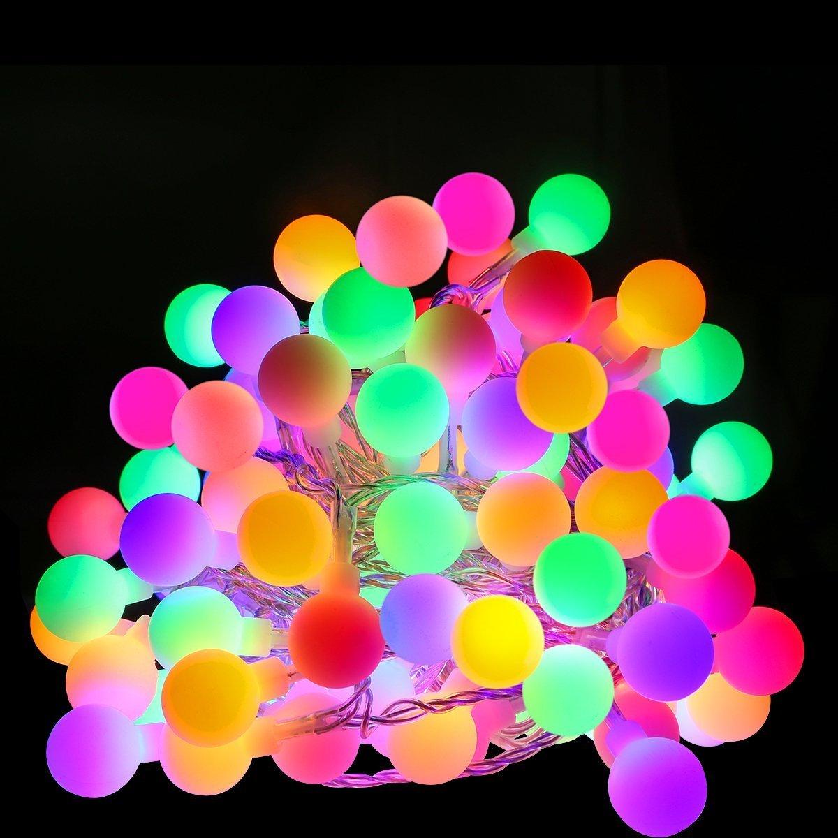 LE m LED Guirnalda de luces Enchufe y Programador Modos Multicolor decoración