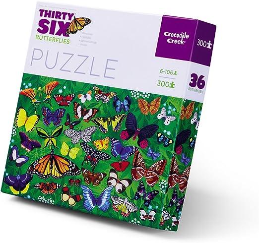 Crocodile Creek Thirty-Six Butterflies L 300Piece Jigsaw Puzzle