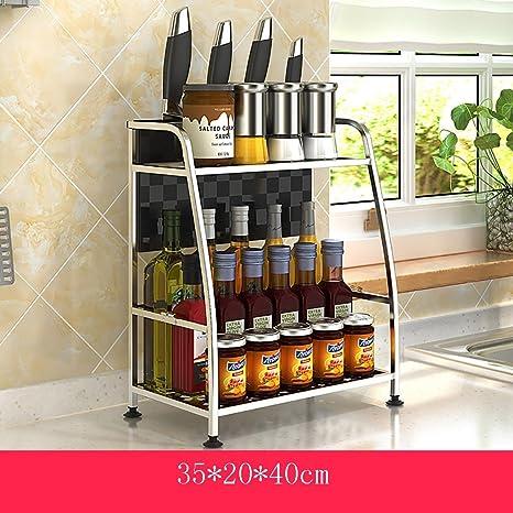 SHtlj Especieros Cocina Estante Condimentos de Acero ...