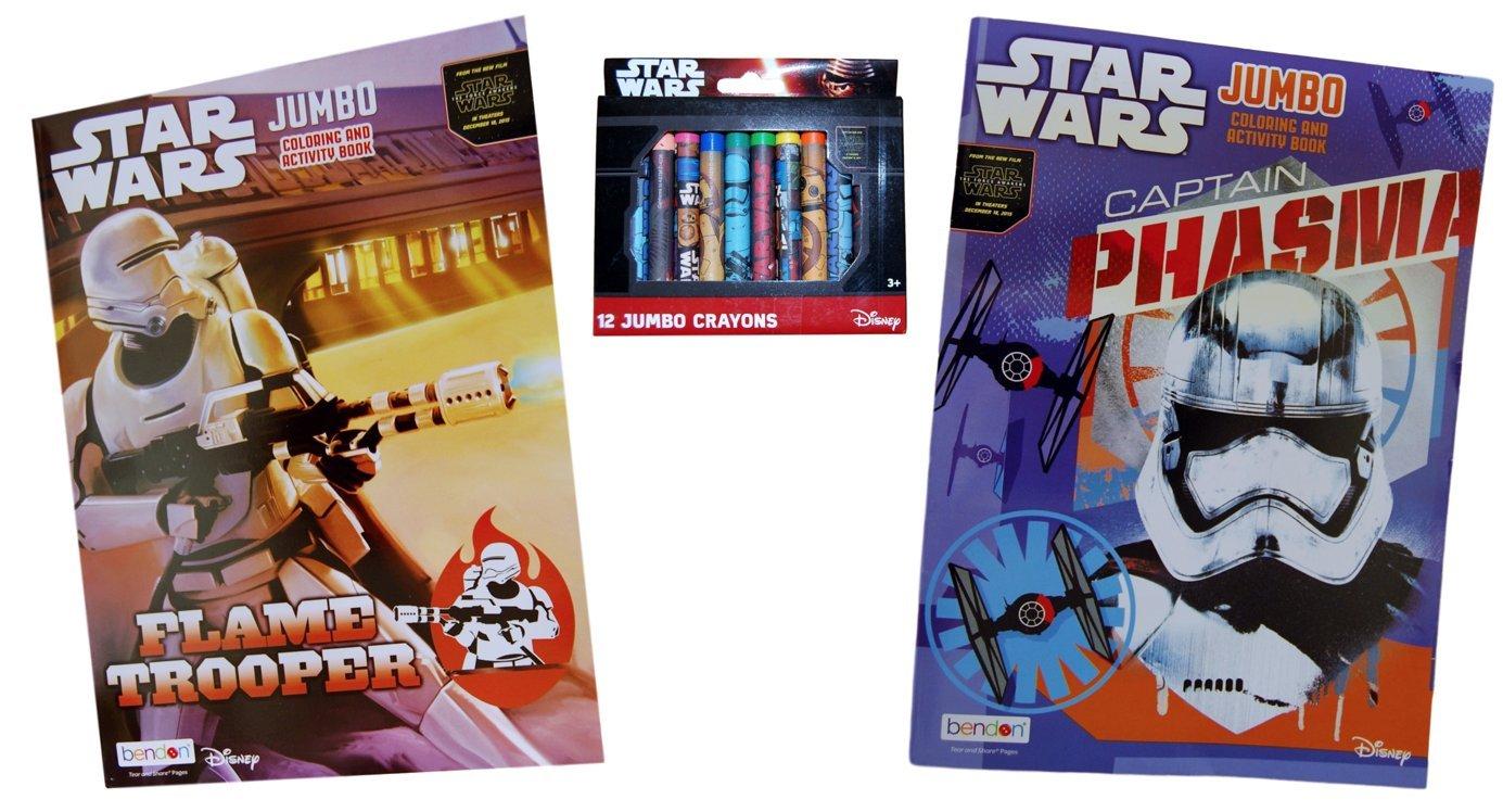 Disney Star Wars Jumbo Coloring Books 2 Pack With Bonus Crayons