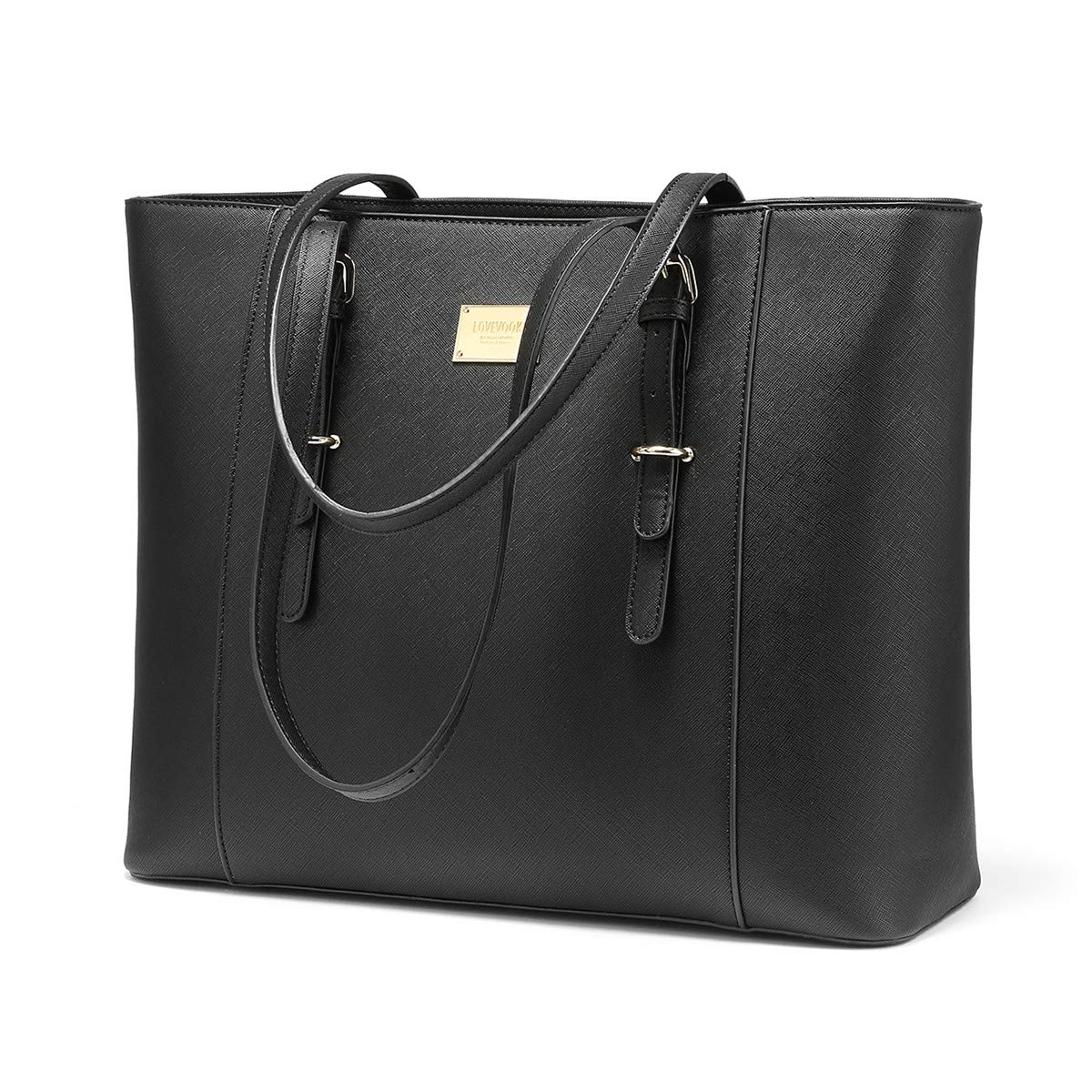 e279b47c49e7 Laptop Bag for Women Large Office Handbags Briefcase Fits Up to 15.6 inch  (Updated Version)-Black