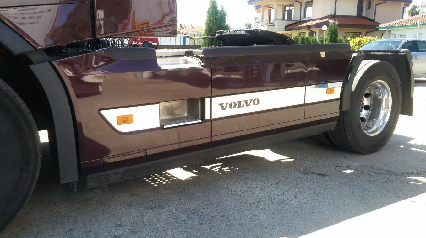 Set Von 7 Pcs Edelstahl Poliert Spiegel Seite Spoiler Bezüge Für Volvo Fh4 Truck Trucker Euro 6 Serie Dekoration Zubehör Auto