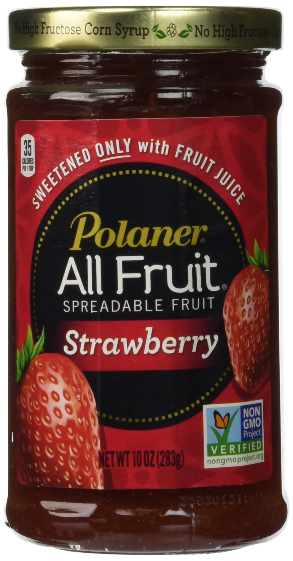 Polaner 100% All Natural Strawberry Fruit Spread 10 oz (Pack of 12) by Polaner All Fruit (Image #1)