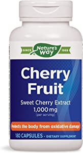 Nature's Way Cherry Fruit Sweet Cherry Extract 1,000 mg Potency, 180 Count