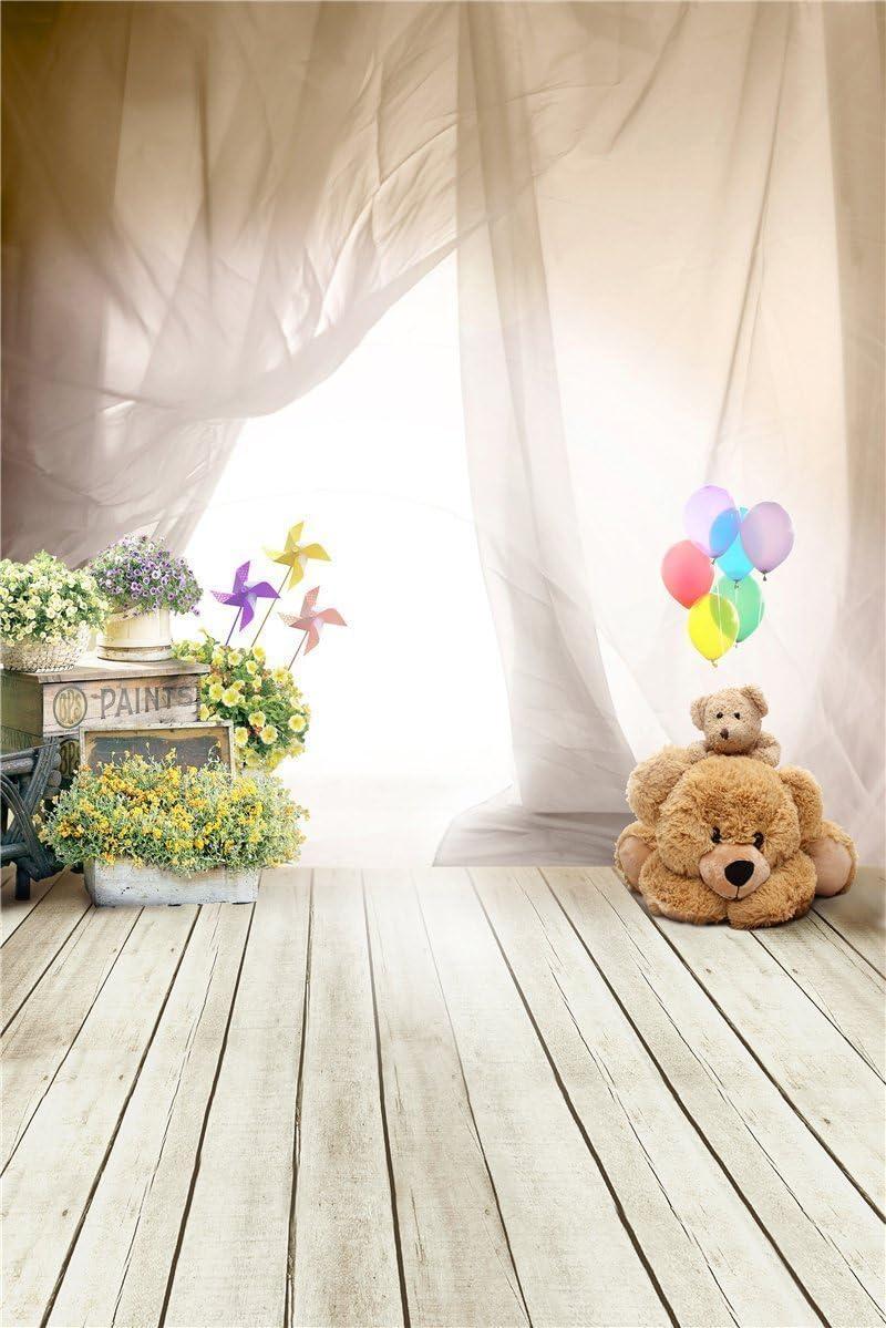 Fantasy Ballon Bear Photography Backdrops For Baby Amazon Co Uk Camera Photo