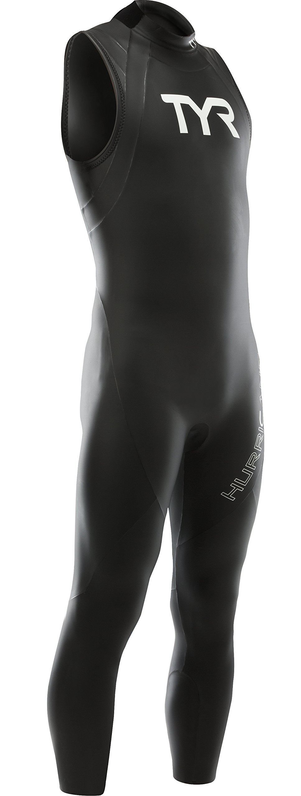 TYR Sport Men's Hurricane Sleeveless Wetsuit Category 1, Black/White, X-Large