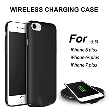 Hoidokly Funda iPhone Qi Receptor Wireless Charging Receiver Case Cargador Inalambrico para iPhone 6s plus/iPhone 6 plus - 5,5 Pulgadas