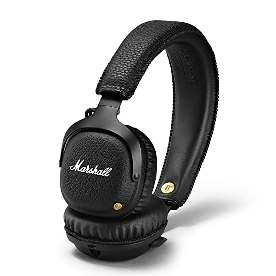 e916fd5acacc8c Image Unavailable. Image not available for. Color: Marshall Mid Bluetooth  Wireless On-Ear Headphone, Black ...
