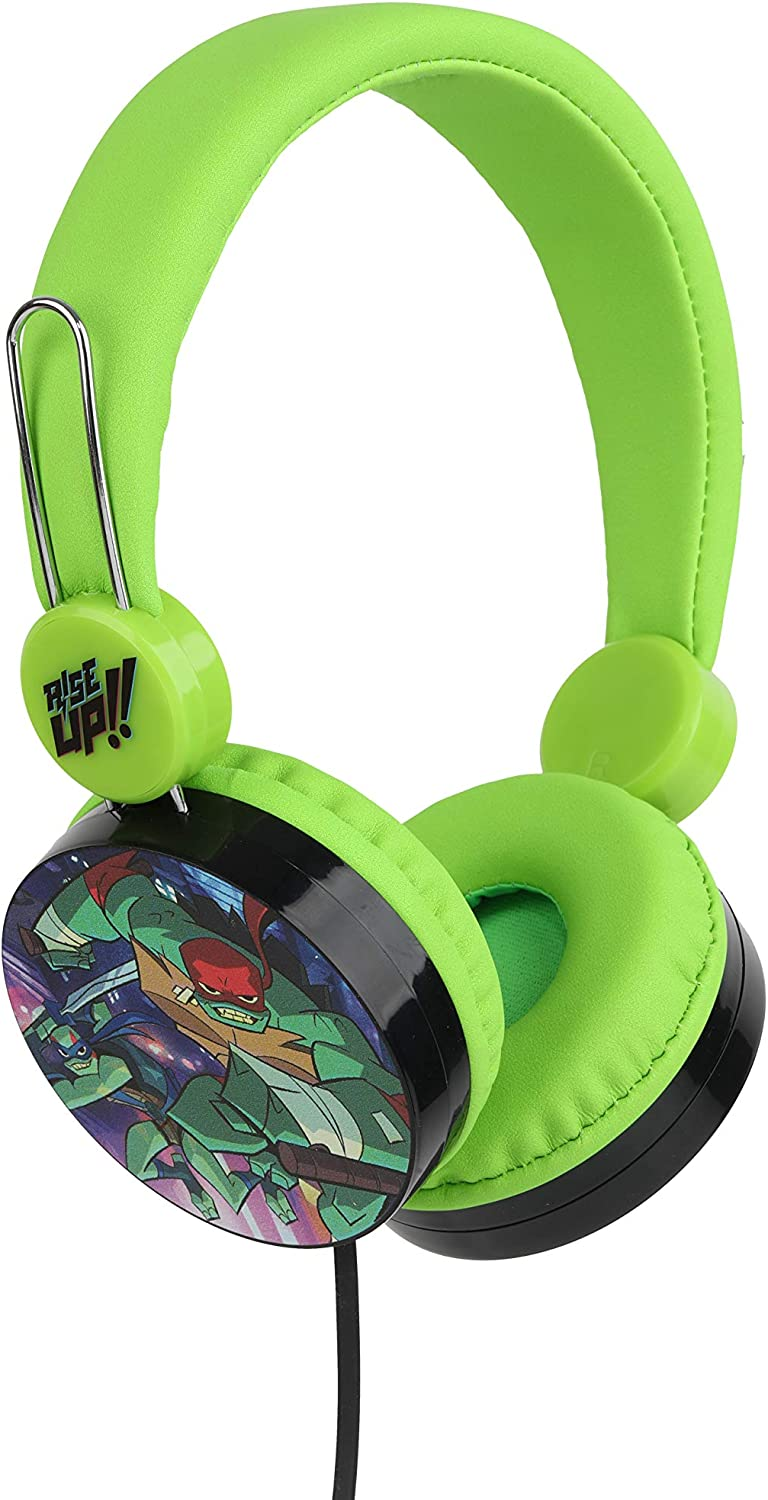 Sakar Teenage Mutant Ninja Turtles Over The Ear Headphones HP1-01057 | Soft and Cushioned Ear Pieces to Fit Any Size, Adjustable Headband Headphones, Great Sound, Volume Limiting Technology