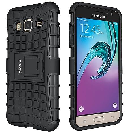 ykooe Handyhülle für Samsung Galaxy Grand Prime Hülle, (TPU Series) Drop Resistance Handys Schutz Hülle mit Ständer für Samsu