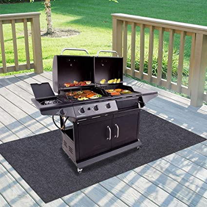 Amazon Com Gas Grill Mat Bbq Grilling Gear For Gas Absorbent Grill Pad Lightweight Washable Floor Mat To Protect Decks And Patios From Grease Splatter Against Damage And Oil Stains Or Grease Spills 36 72 Garden