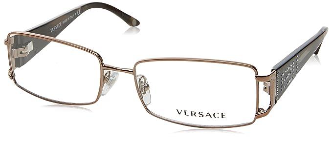 Amazon.com: Versace VE1163B Eyeglass Frames 1013-5216 - Brown ...