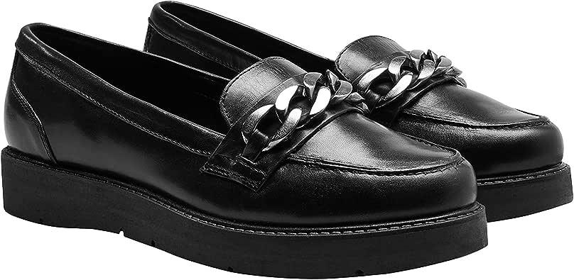 next Mujer Zapatos Zapatillas De Piel Estilo Mocasines Adorno De ...