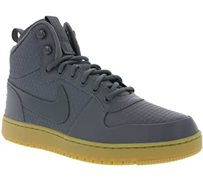 hot sale online aeb54 7fabc Nike Men s Court Borough Mid Winter Basketball Shoes (8 M US, Dark Grey