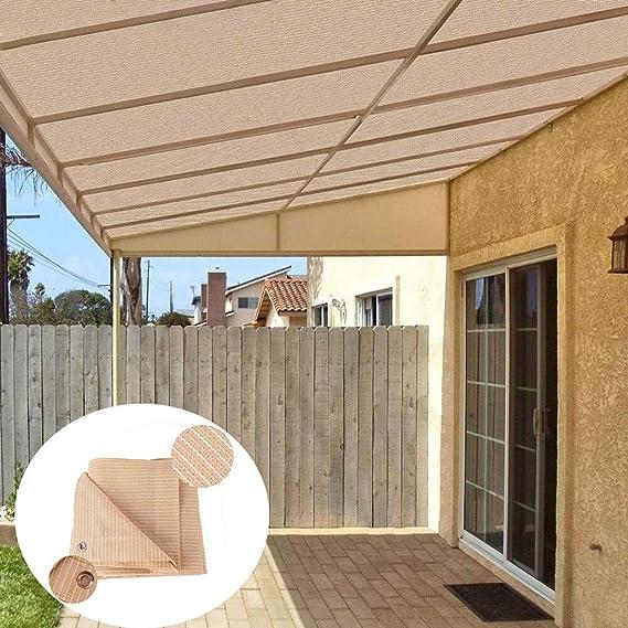 Tela de Sombra Malla Sombreadora Red de Protección Sombra, Resistente 90% Bloqueador UV Borde de Cinta con Arandelas de protección Solar Invernadero Granero Patio Piscina Toldos Protección Solar: Amazon.es: Hogar