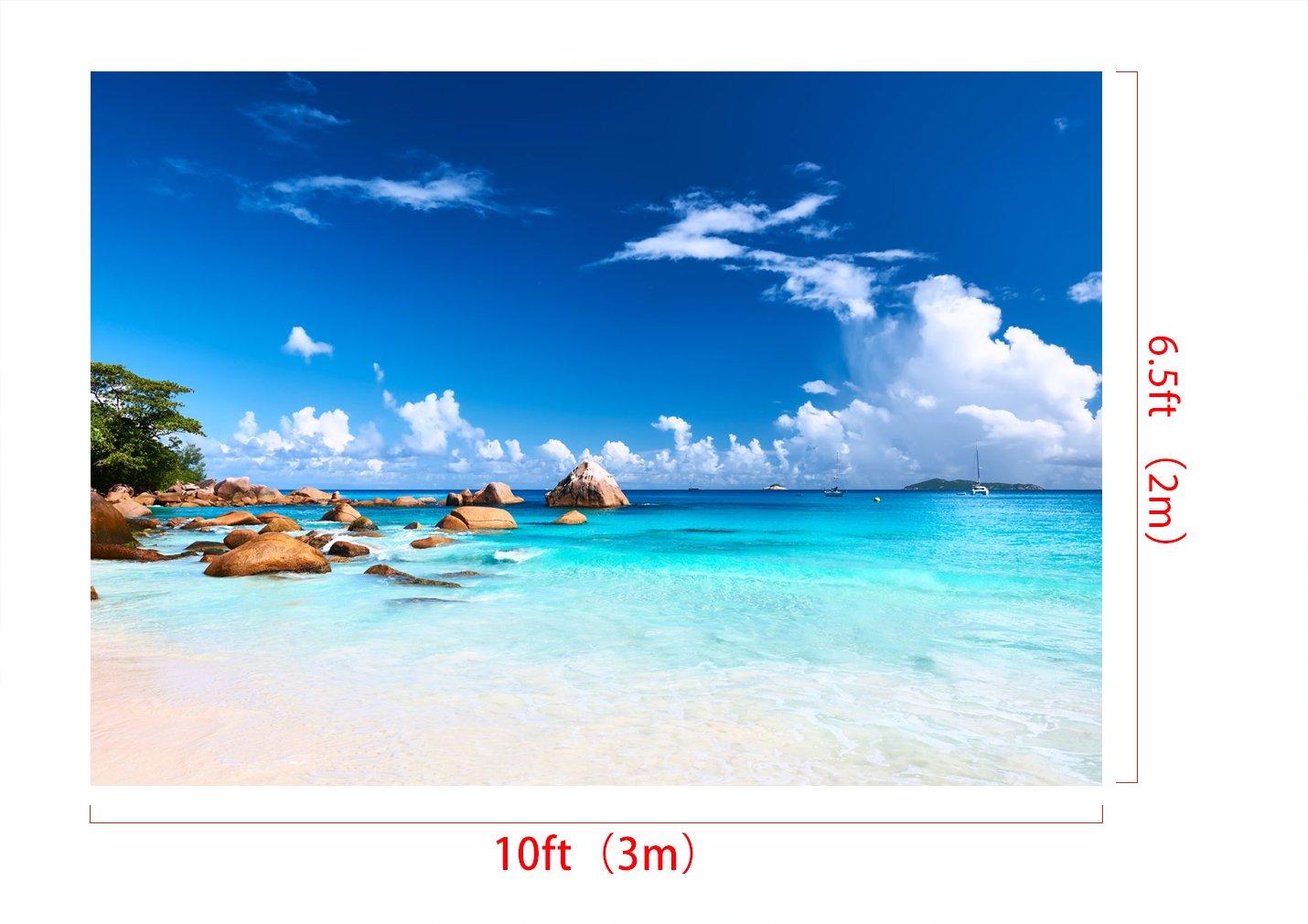 KateHome PHOTOSTUDIOS 3x2m Spiaggia Microfibra Sfondo Estate Foto Fondali Vacanza Fotografia Sfondi per Matrimonio Bambini Decorazione Del Partito Del Bambino Photo Studios