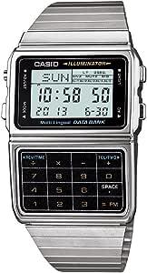 Casio Men's Silver Tone 25 Memory Calculator Databank Watch