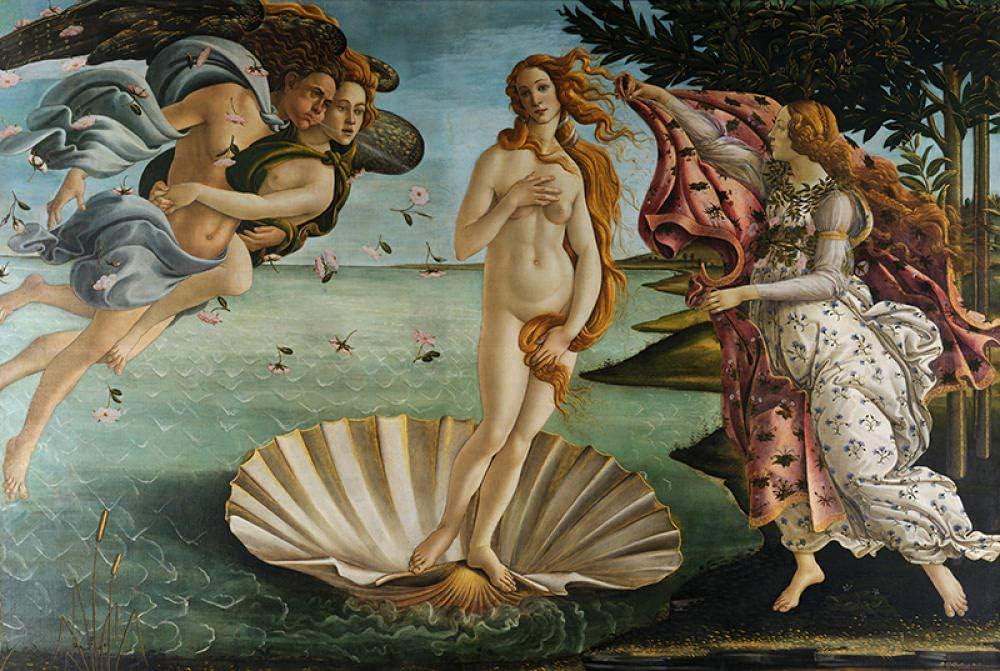 BeiMeng Adultos 500 Unidades Juguete Educativo Nacimiento de Venus de madera Rompecabezas Regalo Único Estilo Decoración -38x52cm