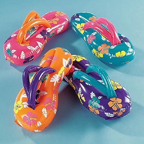 11e2cfc5b Image Unavailable. Image not available for. Color  24 Inflatable Flip Flop  Flops Luau Party Decor Favors ...