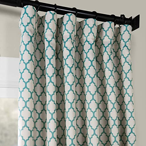 HPD Half Price Drapes BOCH-KC26-108 Blackout Room Darkening Curtain 1 Panel , 50 X 108, Casablanca Teal