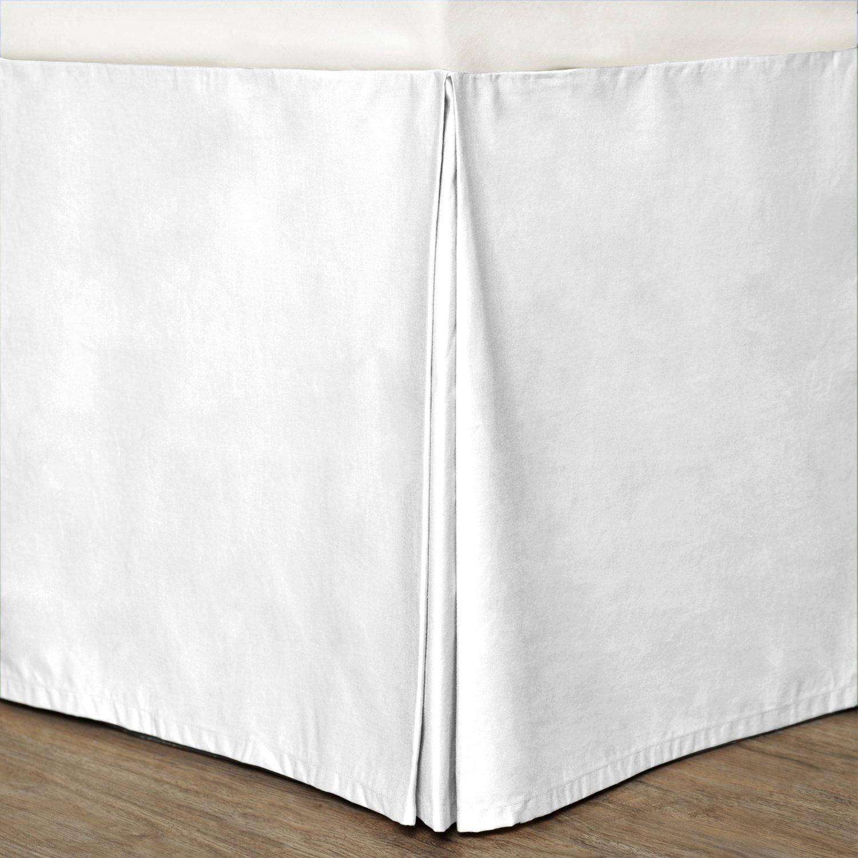 Cottonloft Cotton Bed Skirt Twin White