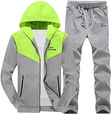 Oberora Mens Jogger Tracksuit Hoodie Sweatshirts Sweatpants Casual Tracksuits Sets