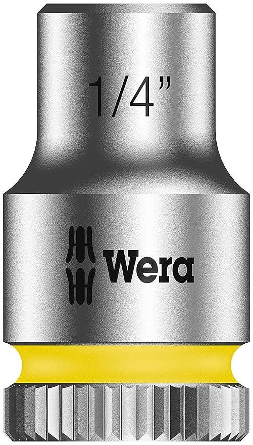 12 mm 1//4 Wera 05003511001 Llave de Vaso con Arrastre