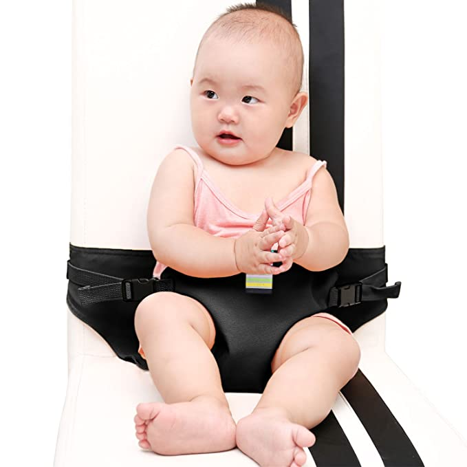 #81086 Blue The Washable Portable Travel High Chair Booster Baby Seat with straps Toddler Safety Harness Baby feeding the strap