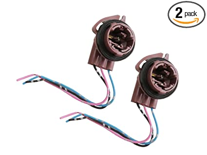 Pre-wired Braking Parking Lamp Socket BAY15D T25 for Auto