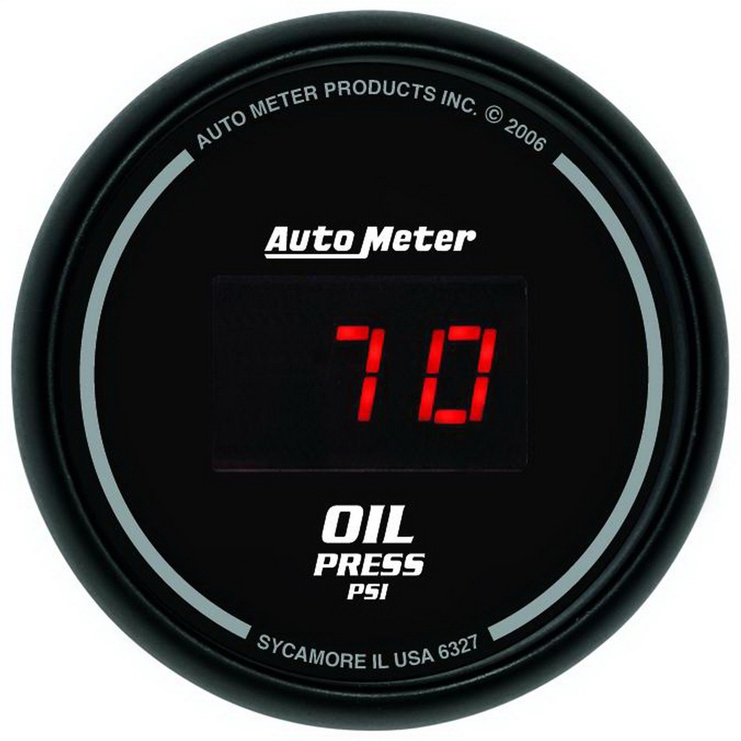 Auto Meter 6327 Sport Comp Digital 2-1/16'' 0-100 PSI Digital Oil Pressure Gauge by Auto Meter (Image #1)