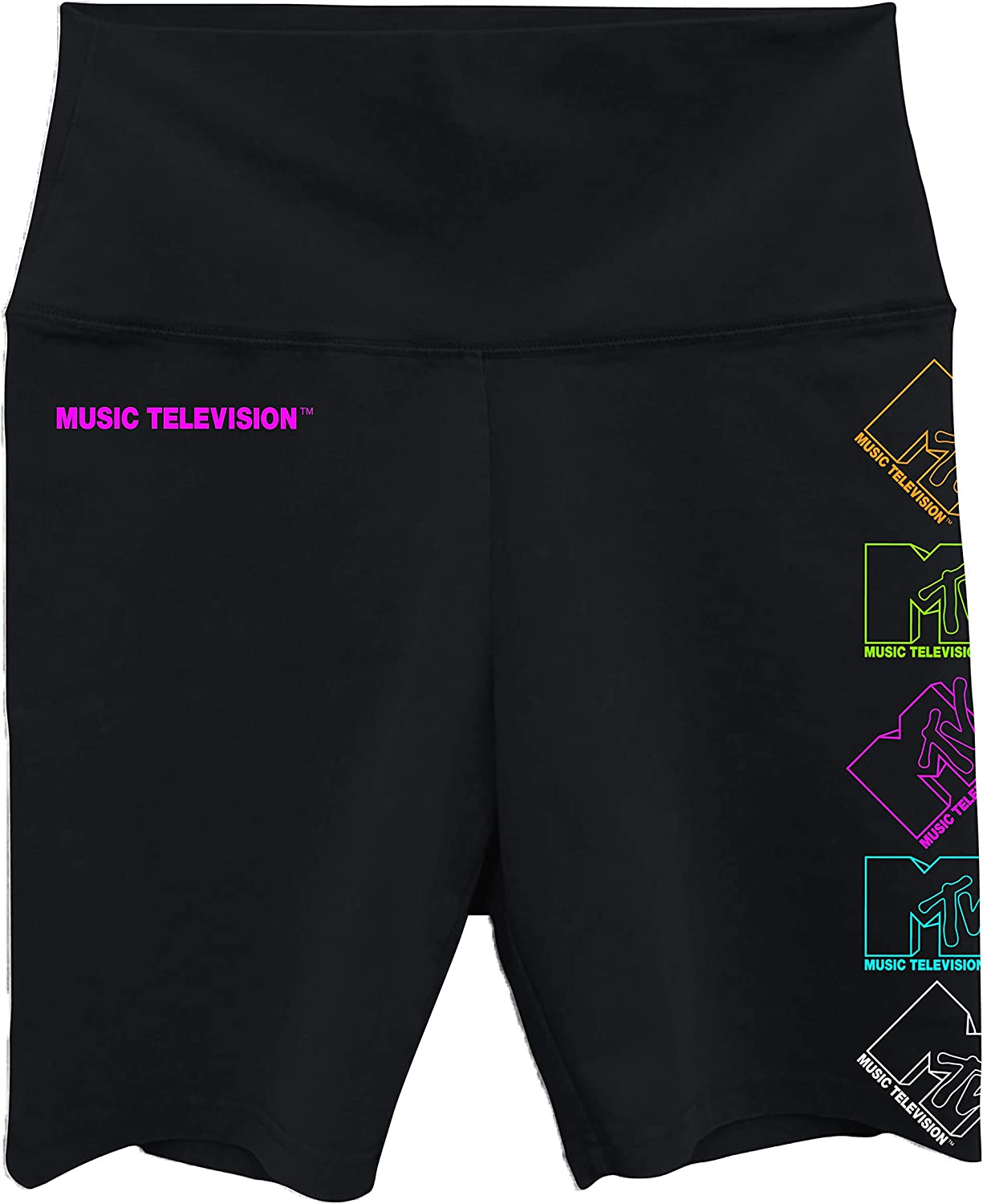 MTV Ladies Fashion Bike Short - #TBT Ladies 1980's Clothing - I Want My Logo Spandex Bike Shorts